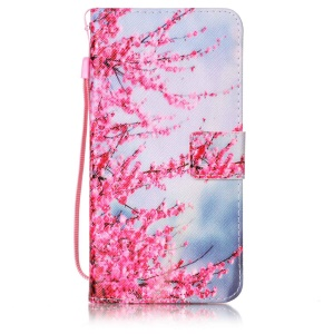 Patterned Wallet Leather Stand Mobile Cover for Huawei Y6 II/Y6II/Honor 5A - Wintersweet Flowers