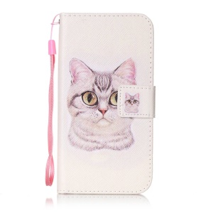 Wallet Leather Stand Case for Huawei Y625 - Lovely Cat