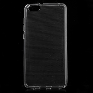 For Huawei Honor Play 4X Thin Glossy Gel TPU Cover Case with Non-slip Inner - Transparent