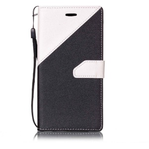 Splicing Wallet Leather Case for Huawei Y6 II/Y6II/Honor 5A - White