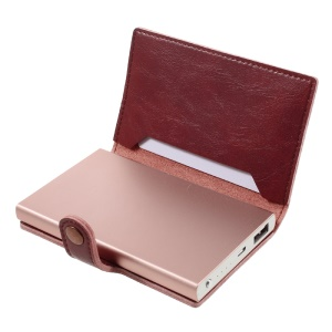 COTEETCI Mini 5000mAh Wallet Power Bank for iPhone Samsung Etc. - Rose Gold / Red