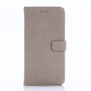 Retro Style Leather Wallet Cell Phone Cover for Huawei Honor 6x (2016) - Grey