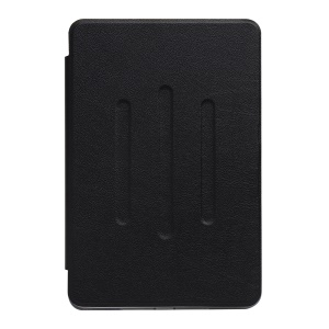 For Huawei MediaPad M3 8.4 Soft TPU Lychee PU Leather Stand Case with Card Slots - Black