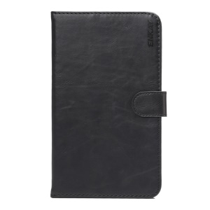 ENKAY Crazy Horse Vintage Smart Leather Wallet Stand Case for Huawei MediaPad M2 7.0 - Black