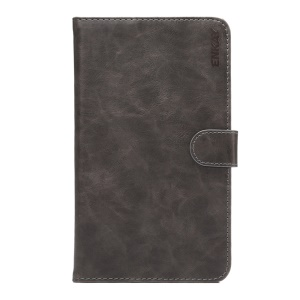 ENKAY Crazy Horse Smart Leather Wallet Stand Tablet Case for Huawei MediaPad M2 7.0 - Dark Grey