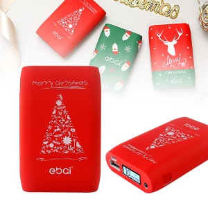 EBAI BV3 x Christmas 8400mAh Power Bank with LED Flashlight for iPhone iPad Samsung LG Huawei - Christmas Tree
