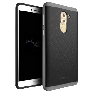 IPAKY Hybrid PC Frame + TPU Back Cover for Huawei Honor 6x (2016) - Grey