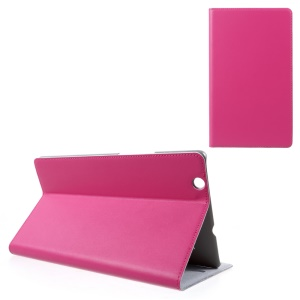 DOORMOON Smart Genuine Leather Folio Cover for Huawei MediaPad M3 8.4 - Rose