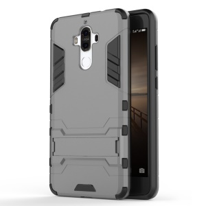 Solid PC + TPU Hybrid Case Cover with Kickstand for Huawei Mate 9 - Grey