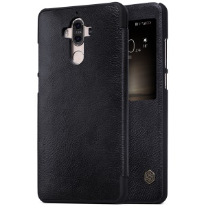 NILLKIN Qin Series View Window Leather Smart Case for Huawei Mate 9 - Black