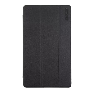 ENKAY Silk Texture Auto Wake / Sleep Tri-fold Leather Stand Case for Huawei MediaPad M3 8.4 - Black