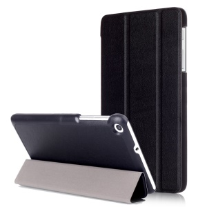 Tri-fold Stand Leather Tablet Case for Huawei MediaPad T2 7.0 - Black