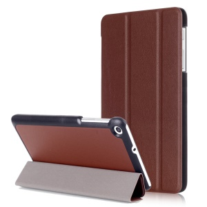 Tri-fold Stand Leather Case for Huawei MediaPad T2 7.0 - Brown