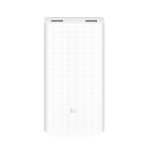 XIAOMI Mi Power Bank 2 20000mAh Capacity Dual USB Support Two-way QC 3.0 Quick Charge - White