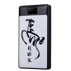 2-in-1 Hand Warmer 8000mAh 2-USB Power Bank with LED Display for iPhone Samsung LG Etc - Chinese Characters