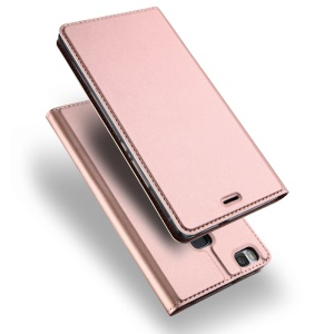 DUX DUCIS Skin Pro Series Business Leather Stand Flip Cover for Huawei P9 Lite / G9 Lite - Rose Gold