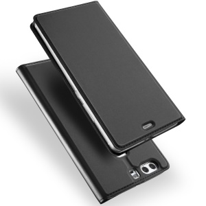 DUX DUCIS Skin Pro Series for Huawei P9 Business Leather Stand Case - Dark Grey