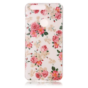 IMD Pattern Cell Phone Case Soft TPU for Huawei Honor 8 - Blooming Peonies