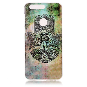 Patterned IMD TPU Gel Case Cover for Huawei Honor 8 - Hamsa Hand Of Fatima