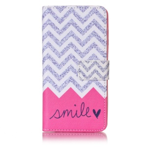 Patterned Cell Phone Case Leather Wallet for Huawei Honor 5c/GT3/Honor 7 Lite - Stripes