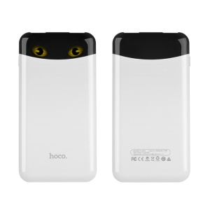 HOCO 10000mAh Genius Cat Power Bank Dual USB (B19-10000) for Smartphone Tablet - White