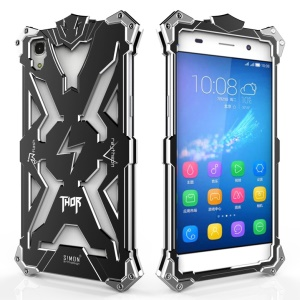 Heavy Duty Aviation Aluminum Armor Phone Case for Huawei Honor 4A / Y6 - Black