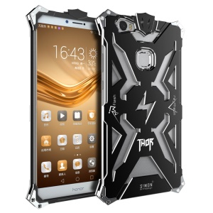 For Huawei Honor Note 8 Cool Metal Aviation Aluminum Armor Cell Phone Case - Black