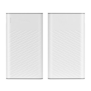 HOCO Concave Pattern Dual USB 30000mAh Power Bank Charger (B18A-30000) - White