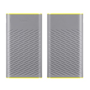 HOCO Concave Pattern 2-USB 30000mAh Portable Battery Power Bank (B18A-30000) - Grey