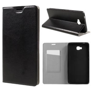 Mobile Case Crazy Horse Leather Flip Cover for Huawei Ascend XT - Black