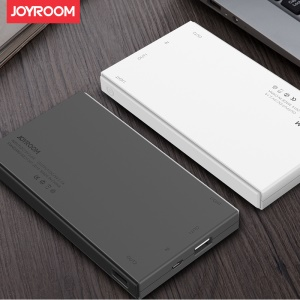 JOYROOM D115 10000mAh External Power Bank with LED Flashlight for iPhone iPad Samsung - White