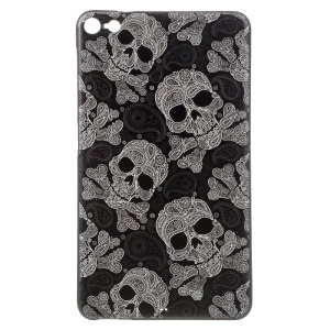 Patterned Embossing TPU Back Case for Huawei M2 PLE-703L - Paisley Skulls