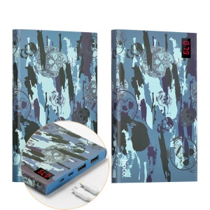 HOCO 20000mAh Dual USB Camouflage Power Bank for iPhone Samsung Huawei Etc (B17C-20000) - Blue