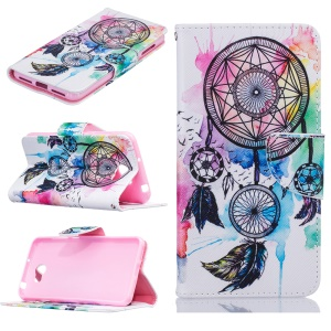 Pattern Printing Leather Wallet Stand Cover for Huawei Y5II / Y5 II / Honor 5 - Dream Catcher