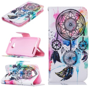 Wallet Leather Stand Case for Huawei Y3 II / Y3II - Dream Catcher