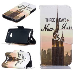 Magnetic Leather Stand Case for Huawei Y3 II / Y3II - Empire State Building