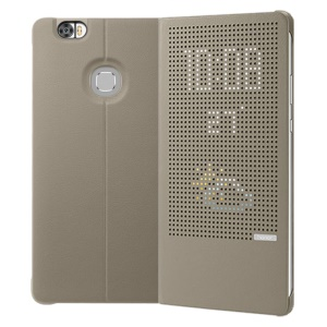 HUAWEI Dot View Window Smart Leather Stand Phone Case for Huawei Honor Note 8 - Grey