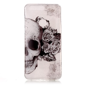 Pattern Printing IMD TPU Case for Huawei Honor 8 - Cool Skull