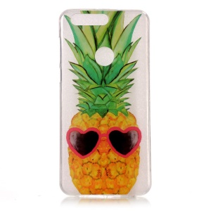 Pattern Printing IMD TPU Protection Case for Huawei Honor 8 - Pineapple Pattern