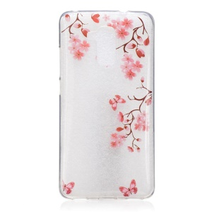 Pattern Printing IMD TPU Case for Huawei Honor 5c/GT3/Honor 7 Lite - Butterflies and Flowers