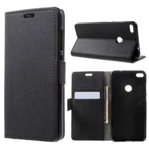 Wallet Leather Stand Case for Huawei P8 Lite (2017) / Honor 8 Lite - Black