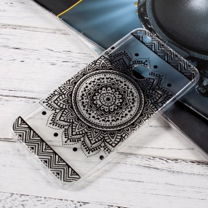 Ultra Thin TPU Mobile Phone Case for Huawei P8 Lite (2017)/Honor 8 Lite - Mandala Pattern
