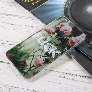 Patterned TPU Ultrathin Shell for Huawei P8 Lite (2017)/Honor 8 Lite - Blooming Roses
