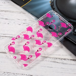 Ultrathin TPU Patterned Skin Case for Huawei P8 Lite (2017)/Honor 8 Lite - Rose Flamingos