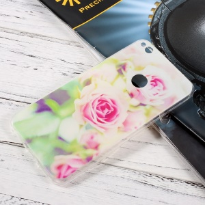 Ultra Thin TPU Patterned Cover for Huawei P8 Lite (2017)/Honor 8 Lite - Fresh Roses