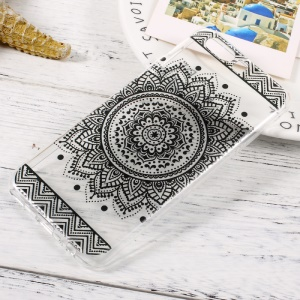 Patterned Clear TPU Protective Case for Huawei P10 - Mandala Flower