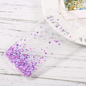 Ultra Thin Patterned Clear TPU Cover for Huawei P10 - Purple Hearts