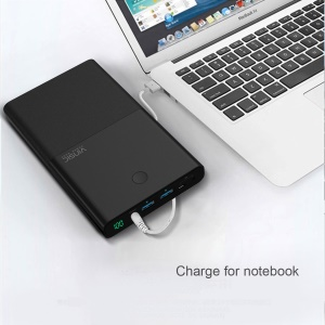 VINSIC 30000mAh Dual USB Power Bank Charger for Cell Phone Tablet Laptop (VSPB401B) - US Plug / Black