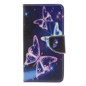 Wallet Leather Phone Case for Huawei P8 Lite (2017) / Honor 8 Lite - Vivid Butterflies