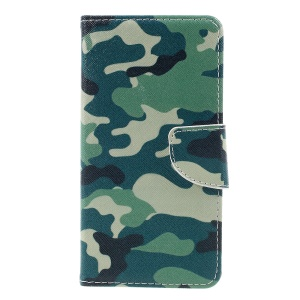 Wallet Leather Case with Stand for Huawei P8 Lite (2017) / Honor 8 Lite - Camouflage Pattern